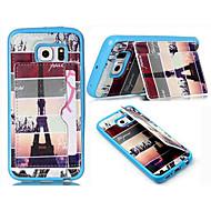 Mert Samsung Galaxy tok Kártyatartó / Pénztárca / Állvánnyal / Flip Case Hátlap Case Eiffel torony Műbőr SamsungS6 edge / S6 / S5 Mini /