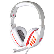 CD-619 HIFI Gaming Wired Headphones  with In line Mic & Volume Control Ear Noise Cancelling Bass Surround Earphones