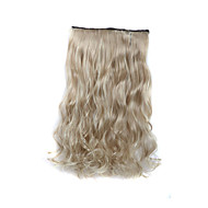 24 inch 120g lang krullend blond 5 clip in hair extensions hittebestendige synthetische vezels