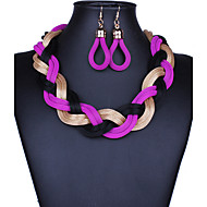 여성 보석 세트 패션 보헤미아 스타일 유럽의 수공 의상 보석 귀걸이 목걸이 제품 파티 특별한 때 생일 결혼 선물