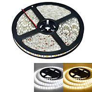 JIAWEN® 5 M 300 5050 SMD Warm White / Hvid Vandtæt 60 W Fleksible LED-lysstriber DC12 V