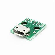 2.54MM 딥 5 핀 모듈 마이크로 USB - 녹색