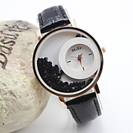 Women's Fashion Style Gold Dial PU Band Quartz Analog Wrist Watch (Assorted Colors) Cool Watches Unique Watches