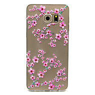 Plum flower Pattern TPU Relief Back Cover Case for Galaxy S5 Mini/S5/Galaxy S6/Galaxy S6 edgePlus/Galaxy S6 edge