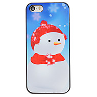 Christmas Style Snowman in Red Hat Pattern PC Hard Back Cover for iPhone 5/5S