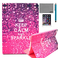 LEXY® Calm Sparkle Pattern PU Leather Flip Stand Case with Screen Protector and Stylus for iPad Air/iPad 5