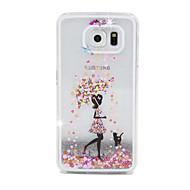 fluxo de areia menina pc caso de telefone celular material para Samsung Galaxy S6 / S6 borda