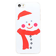 Christmas Style Red Scarf Snowman Pattern Transparent PC Back Cover for iPhone 5/5S