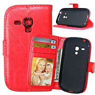 High quality PU leather wallet mobile phone holster Case For Galaxy S5 Mini/S4 Mini/S3 Mini/S4/S3(Assorted Color)