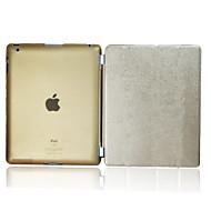 ikodoo ® Slim Soft Smart PU läderfodral hårt plast-fall för iPad 2/3/4 (blandade färger) KPI-26TS