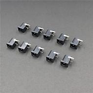2.1mm DC strømstik stik - sort (10-stykke pack)