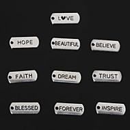 Beadia Vintage Faith Inspire Love Trust Beautiful Blessed Dream Hope Forever Believe Metal Charm Pendants 10 Styles