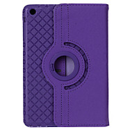 360 Degrees Rotating Grid Pattern PU Leather + TPU Case w/ Stand For iPad 4/3/2