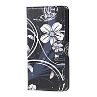Voor LG hoesje Hoesje cover Kaarthouder Portemonnee met standaard Flip Volledige behuizing hoesje Bloem Hard PU-leer voor LG LG Nexus 5X
