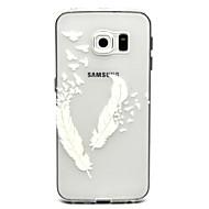 For Samsung Galaxy etui Transparent Etui Bagcover Etui Fjer TPU for Samsung S6 edge plus S6 edge S6 S5 Mini S5