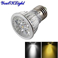 YouOKLight® E27 4W Dimmable 4-LED Spotlight Warm White Light/Cold White 3000/6000K 400lm (AC 85~265V)