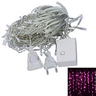 JIAWEN® 3 M 100 Dip LED Varmt vit / Rosa Kopplingsbar 4 W Ljusslingor AC220 V