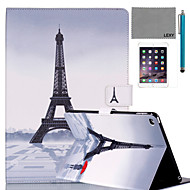 LEXY® Red Umbrella Tower Pattern PU Leather Flip Stand Case with Screen Protector and Stylus for iPad Air 2/iPad 6