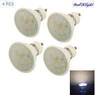 5W GU10 Spot LED A50 10 SMD 5730 450 lm Blanc Chaud Décorative AC 85-265 V 4 pièces