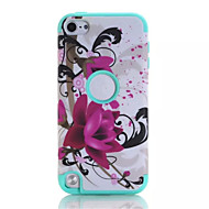Lotus patterns High Quality Snap-on PC + Silicone Hybrid Combo Armor Case Cover for iPod touch 6(Assorted Color)