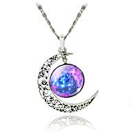 Frauen Galaxie Sterne-Mond Zeit Edelstein Halskette