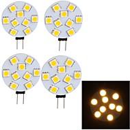 YouOKLight Luminária de LED com Trilho Decorativa G4 4 W 380 LM 3000 K Branco Quente 9 SMD 5050 4 pçs 30/9 V G45