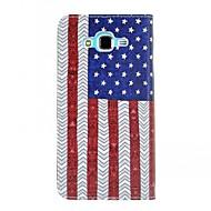 Na Samsung Galaxy Etui Etui Pokrowce Etui na karty Portfel Z podpórką Flip Futerał Kılıf Flaga Sztuczna skóra na Samsung J7 J5