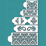 Damask Cake Stencil Set, Cake Border Stencils Set,Cake Side Design Stencil,ST-198