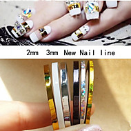 5Pcs Mixed Colorful Beauty Striping Line Sticker Box Holder Foil Tips Tape Line For Nail Tools Decorations