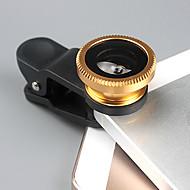universal de 1 x Clip + 1 x 180 ° de ojo de pez len + 1 x macro len + 2 x tapas len + bolsa de tela 1 x para el iphone