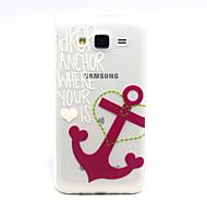 Varten Samsung Galaxy kotelo Läpinäkyvä Etui Takakuori Etui Ankkuri TPU Samsung J5
