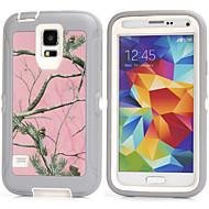 För Samsung Galaxy-fodral Stötsäker fodral Skal fodral Pansar PC för Samsung S6 S5 S4 S3