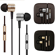 Original xiaomi piston 2 HiFi headphones 3.5mm stereo Earphone Metal Sports Bass Headset with Mic for Iphone 6 / 6Plus
