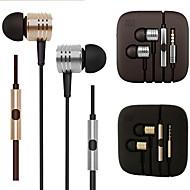 Original xiaomi piston 2 HiFi headphones 3.5mm stereo Earphone Metal Sports Bass Headset with Mic for Iphone 6 / 6Plus
