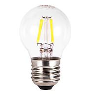 E26/E27 LED-globepærer G60 4 COB 300-350 lm Varm hvit AC 220-240 V 5 stk.
