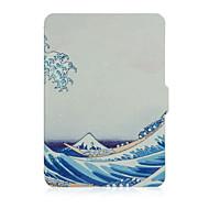 caso de la cubierta de impresión de cuero tímido oso ™ 6 pulgadas para el Amazonas paperwhite ebook