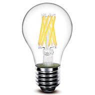 1 st 深美乐 E26/E27 8 W 8 COB 800 LM Varmvit A60 Dekorativ LED-glödlampa AC 220-240 V