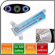 Eclairage de Velo , Éclairage pour roues de vélo - 3 Mode 100 Lumens Etanche AAA x 3pcs Batterie Cyclisme/Vélo / Pêche Bleu Vélo XIE SHENG