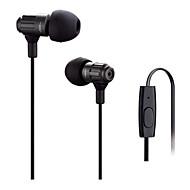jbm fone de ouvido estéreo de alta nos fones de metal fone de ouvido fones de ouvido viva-voz com microfone 3.5mm para fones jogador