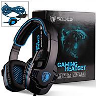 Sades Stereo 7.1 Surround Pro USB Gaming Headset with Mic Headband Headphone