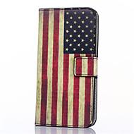 Για Samsung Galaxy Θήκη Θήκη καρτών / Πορτοφόλι / με βάση στήριξης / Ανοιγόμενη / Με σχέδια tok Πλήρης κάλυψη tok Σημαία Συνθετικό δέρμα