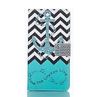 Na Samsung Galaxy Etui Etui Pokrowce Portfel Etui na karty Z podpórką Flip Futerał Kılıf Kotwica Sztuczna skóra na Samsung S6 edge S6 S5