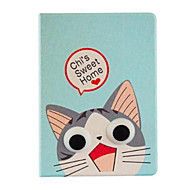 Cat Pattern Stereo Eye Stent Case for iPad Air