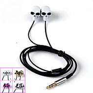 korkealaatuisia stereokuulokkeet korvassa metalli kuuloke handsfree kuulokkeet ja mikrofoni 3.5mm nappikuulokkeet Samsung S4 / S5