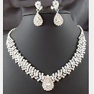Damen Schmuckset Modisch Modeschmuck Diamantimitate Tropfen Ohrringe Halskette Für Party Besondere Anlässe Geburtstag Hochzeitsgeschenke