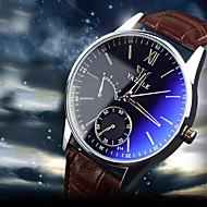 YAZOLE Muškarci Ručni satovi s mehanizmom za navijanje Kvarc Kronograf Vodootpornost Koža Grupa Crna Smeđa Braon Crno/bijela Smeđe/bijela