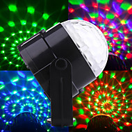 3*1W RGB Auto Sound Indoor Magic LED Crystal Ball Light