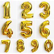 10pcs store guld nummer 0-9 balloner nye år julefrokost bryllup dekoration ballon