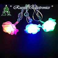4m 20 førte christmas roser strengen rgb form fairy lys jul xmas ideal