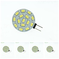 5 x G4 / MR11/ GU4 / GZ4  7.5W 15x5630SMD  Warm White/ White 900LM Led Light Bulbs (9-36V AC/DC)